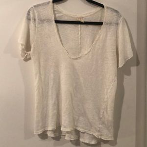 Free People - Lace Detailed Tee - Size S